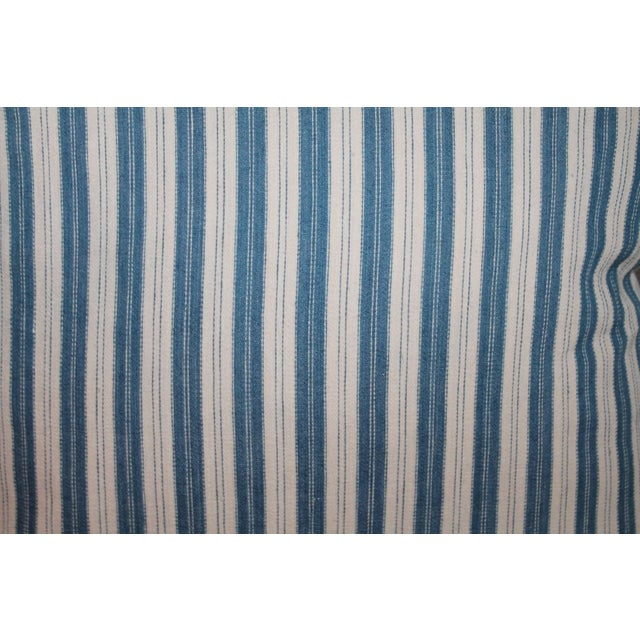 Striped Ticking Pillows - A Pair For Sale - Image 4 of 7