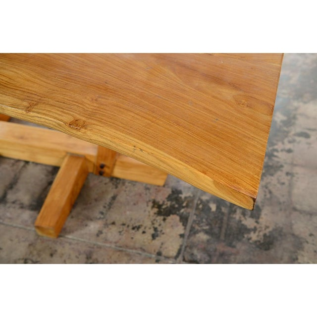 Tan George Nakashima Style Conoid Dining table For Sale - Image 8 of 10