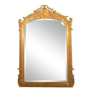 "Antique French ""Belle Epoch"" Gold Mirror With Fine Beveling, Circa 1860-1870. For Sale"