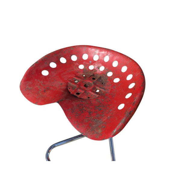 "Rare Red Rodney Kinsman ""T7 Tractor"" Outdoor/Patio Stool for Omk For Sale In Los Angeles - Image 6 of 6"