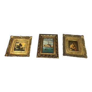 1950s Vintage Italian Inspired Prints - Set of 3 For Sale