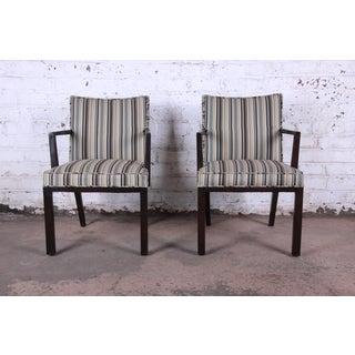 Edward Wormley for Dunbar Mahogany Club Chairs, Pair Preview