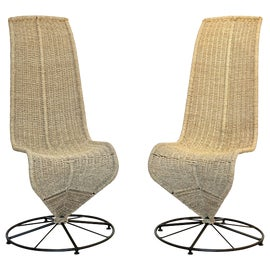 Image of Wicker Dining Chairs