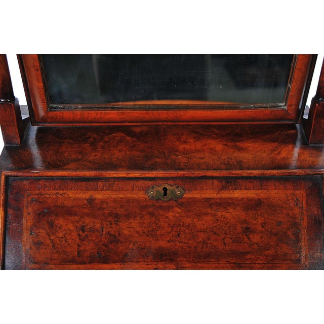 Glass 19th Century Carved Walnut Shaving Mirror For Sale - Image 7 of 9