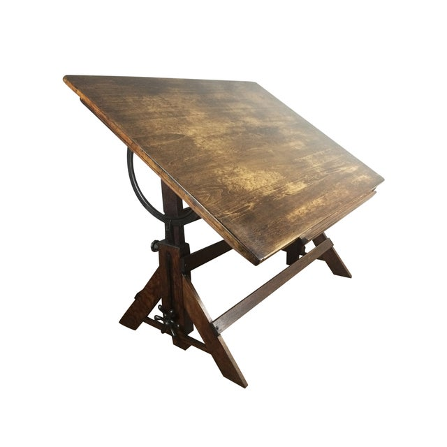 Antique Drafting Table - Image 2 of 5