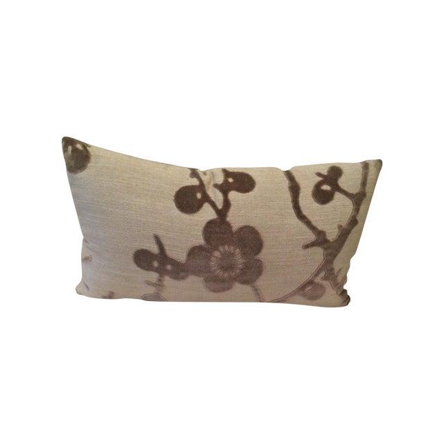 Lee Jofa Floral Flocking Pillow - Image 1 of 3