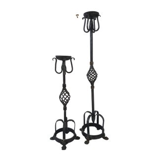 Theodore Alexander Tall Candle Holders - a Pair For Sale