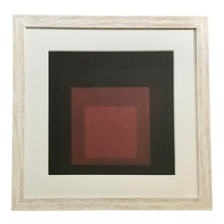 Josef Albers Red Color Lithograph For Sale