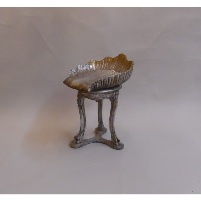 Late 19th Century 19th Century Italian Silver and Gold Gilt Cherrywood Grotto Seat For Sale - Image 5 of 13