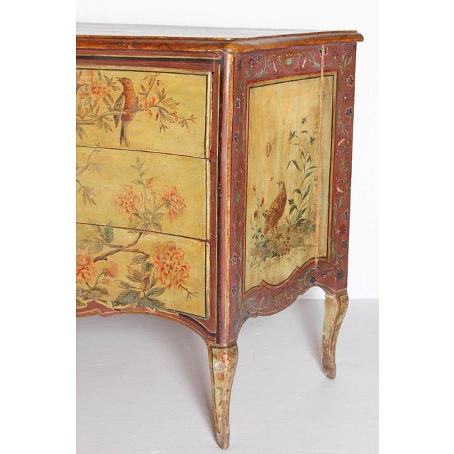 Paint 18th Century Italian Painted Commode For Sale - Image 7 of 13