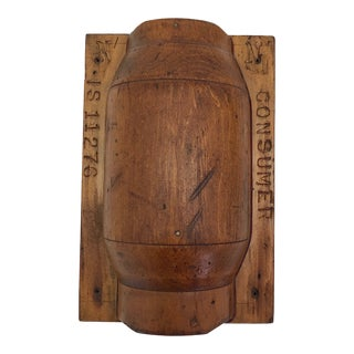 Original Mounted Wooden Foundry Jar Mold For Sale