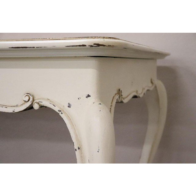 Louis XV 20th Century French Country Provencal Louis XV Style Painted Dining Room Table For Sale - Image 3 of 10