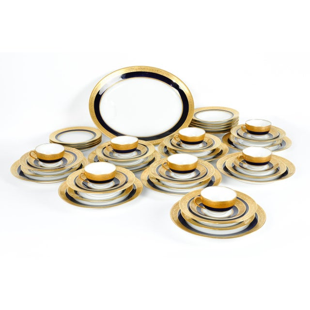 Ceramic Full Haviland Limoges Service Set for 8 For Sale - Image 7 of 9