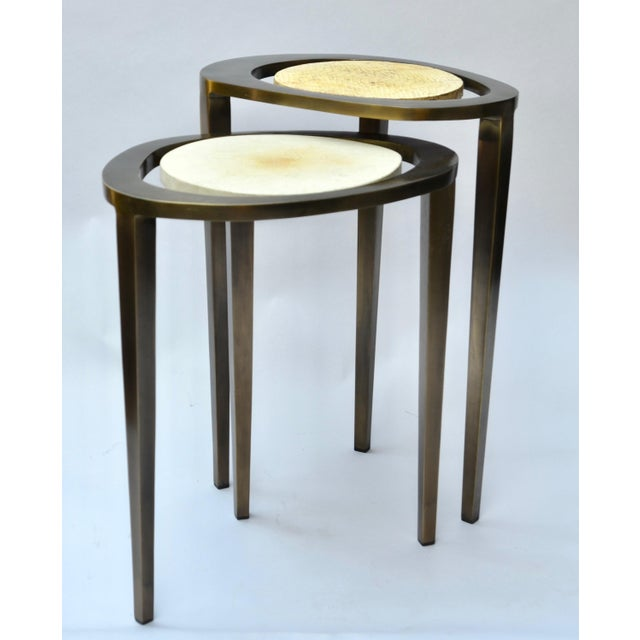 R & Y Augousti Bronze Nesting Side Tables - Image 8 of 10