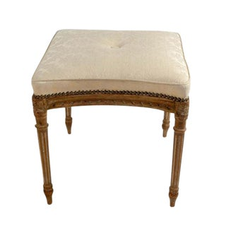French Louis XVI Style Beechwood Bench For Sale