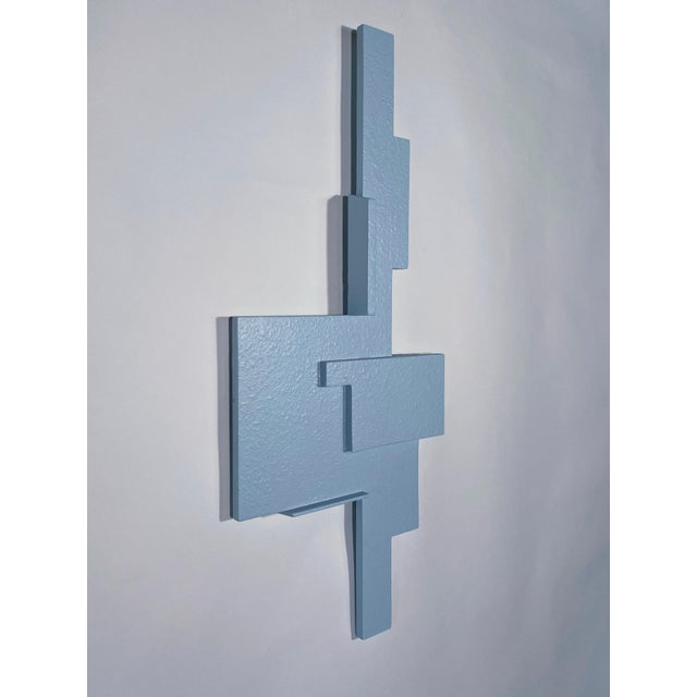 """Contemporary """"Blue Assemblage"""" Contemporary Abstract Wall Sculpture by James Worsham For Sale - Image 3 of 4"""