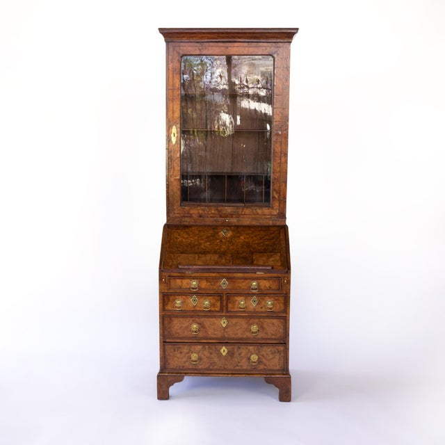 George I Walnut Bureau Bookcase, English, Circa 1710 For Sale - Image 4 of 8