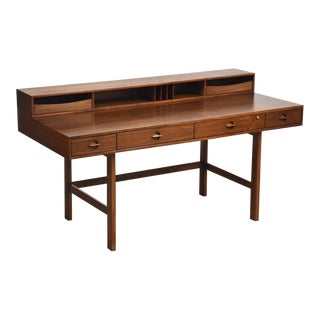 Jens Quistgaard for Løvig Walnut Flip Top Desk For Sale