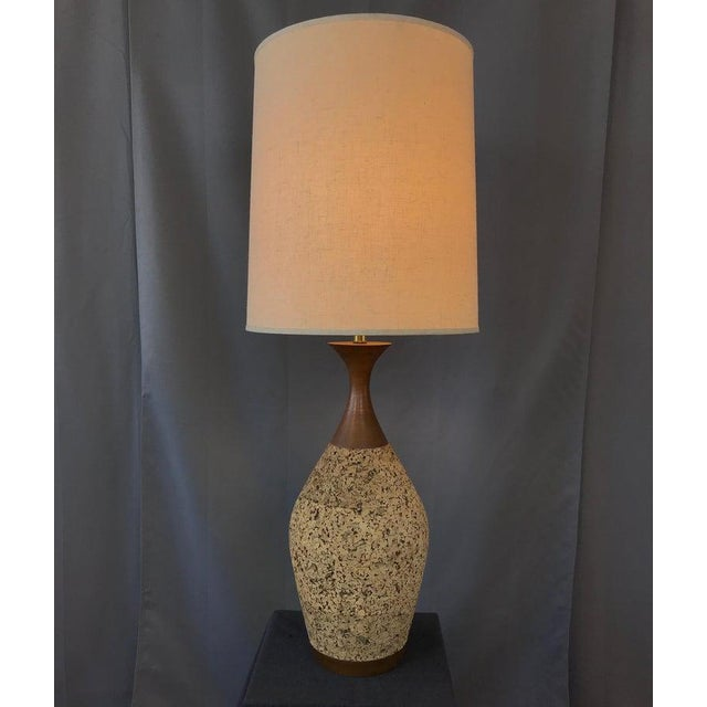 1970s Monumental, 1970s Cork Lamp For Sale - Image 5 of 13