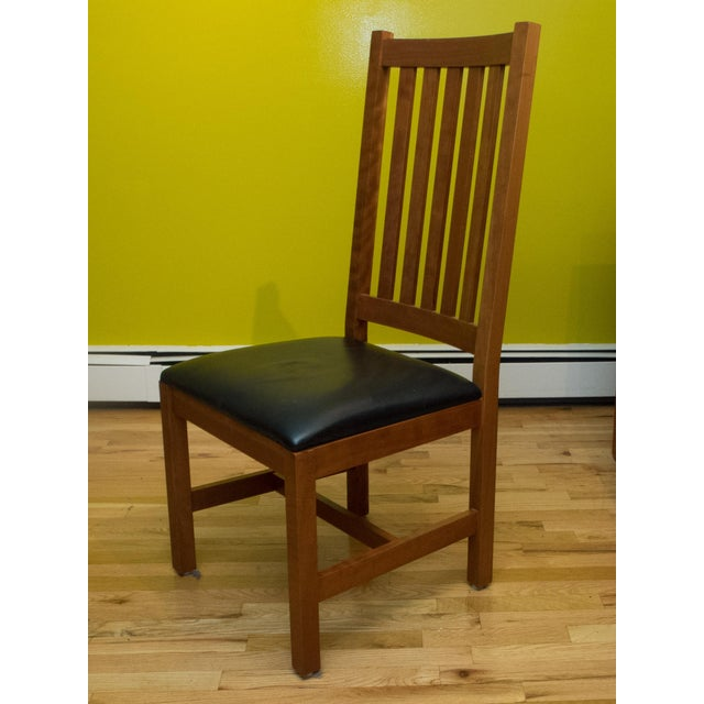 Mission Style Brazillian Cherry Wood Dining Set From Crate & Barrel For Sale - Image 9 of 9
