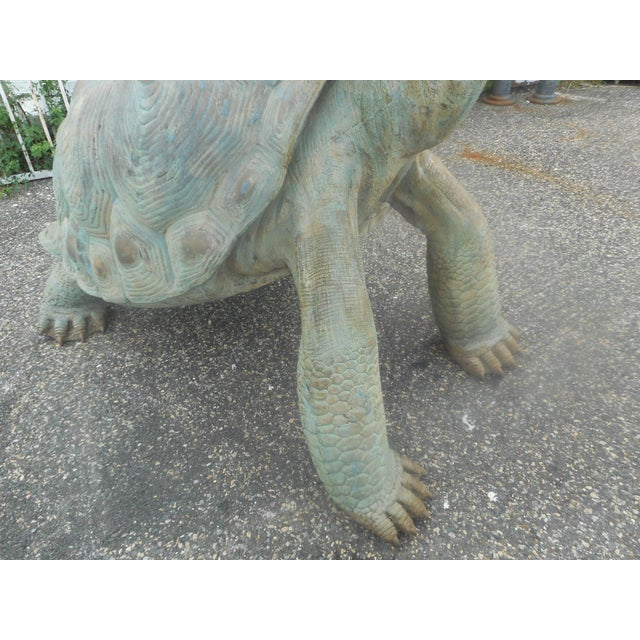 Enormous Bronze Turtle Fountain For Sale - Image 9 of 13