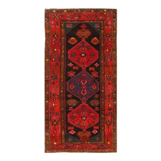 Navy Blue Fine Antique Russian Kazak 5'5'' X 11'5'' For Sale
