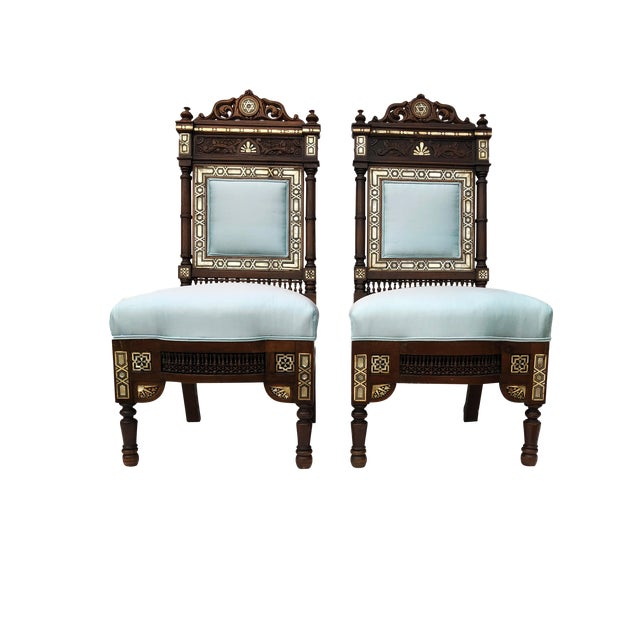 Museum Pieces 19th C Moorish Pair of Chairs For Sale
