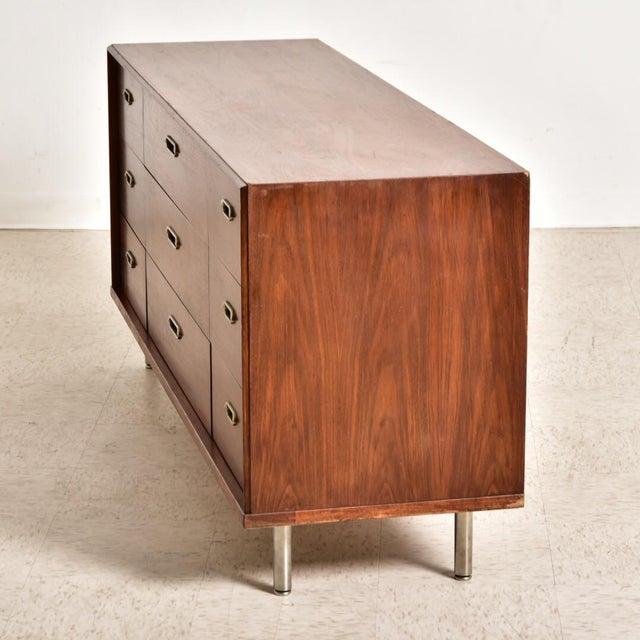 Metal Vintage 9 Drawer Dresser For Sale - Image 7 of 8