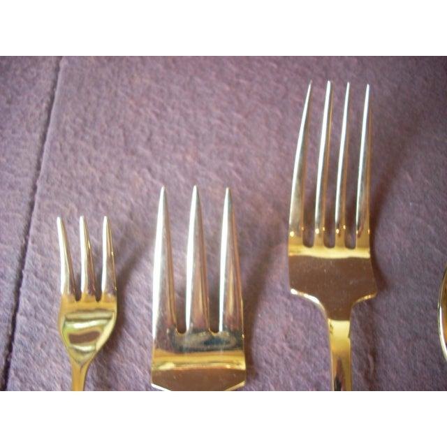 Vintage 24k Gold Plate Flatware Service for 8 - Set of 69 For Sale - Image 4 of 7