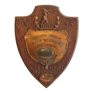 1946 Chicago Public High School Tennis Copper Trophy
