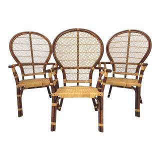 Vintage Amp Used Rattan Dining Chairs Chairish