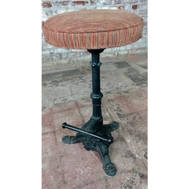 Victorian Cast Iron Bar Stools - a Pair For Sale - Image 4 of 9