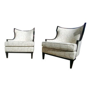 Henredon Furniture Barbara Barry Lounge Chairs - A Pair For Sale