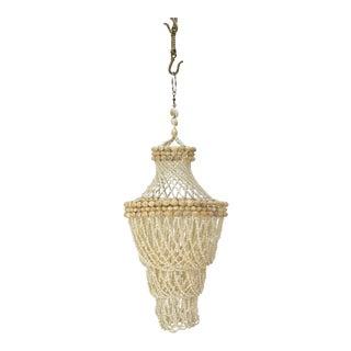 Mid-Century Shell Hanging Pendant