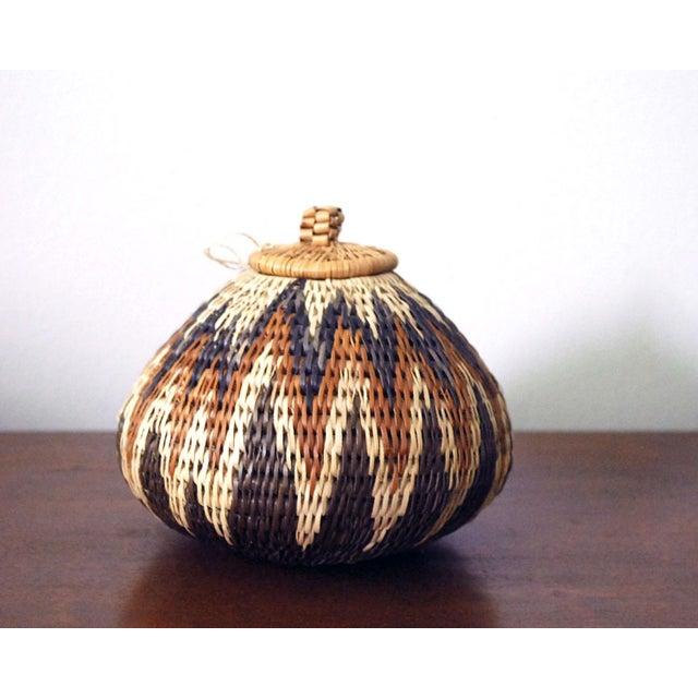 Brown Vintage Zulu Seed Basket For Sale - Image 8 of 8