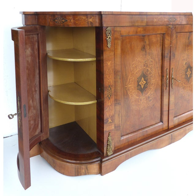 Italian Inlaid & Bronze Mount Buffet - Image 4 of 11