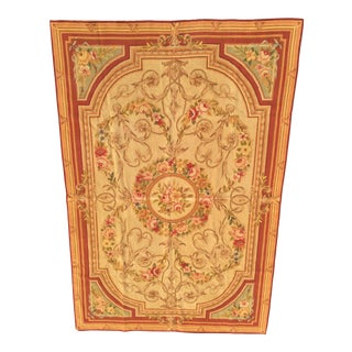 Aubusson Needlepoint Rug - 3' × 5′ For Sale