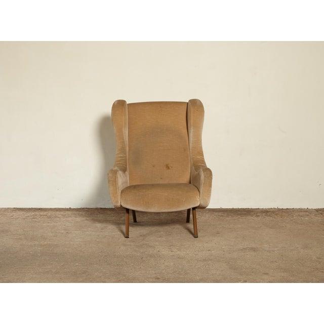 Brass Marco Zanuso Senior Chair, Arflex, Italy, 1960s For Sale - Image 7 of 10
