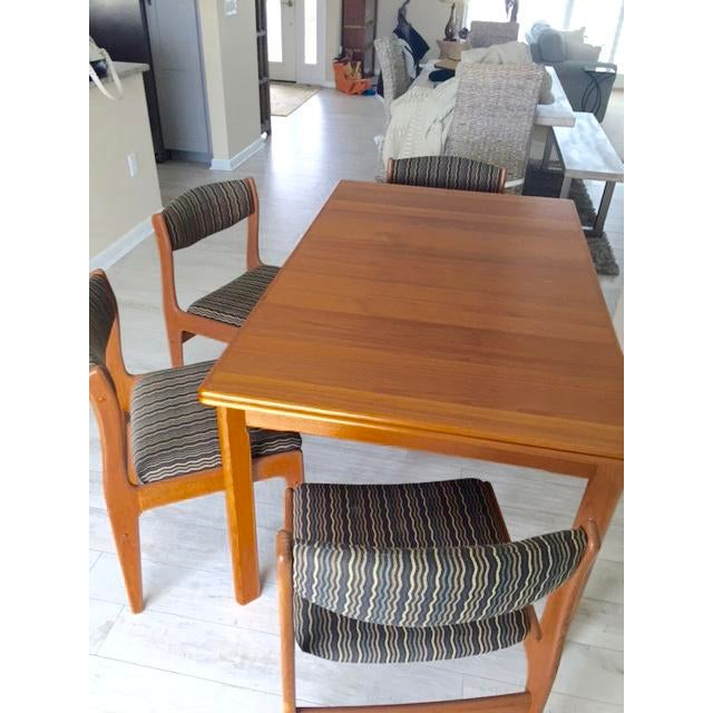 Danish Teak Dining Room Table Set - Image 7 of 9
