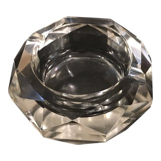 Vintage Crystal Ashtray For Sale