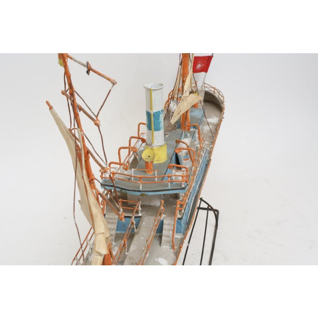 Large Model Boat Ship with Stand - Image 6 of 9
