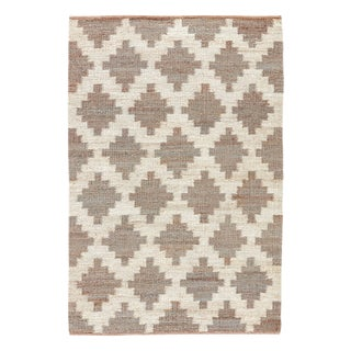 Jaipur Living Souk Natural Trellis Gray/ White Area Rug - 8′ × 10′ For Sale