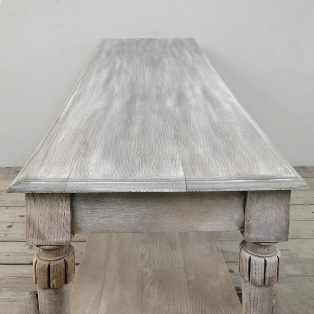Early 20th Century Antique Country French Whitewashed Console ~ Sofa Table For Sale - Image 5 of 13