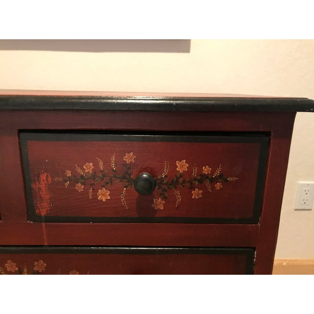 20th Century Black Forest Hand Painted 4-Drawer Dresser For Sale - Image 6 of 7