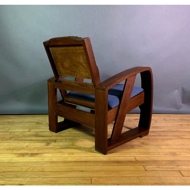 1930s 1930s Solid Teak Veranda Chair, Danish Colonial Indonesia For Sale - Image 5 of 11