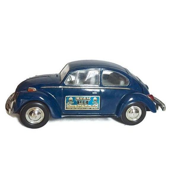 Vintage Volkswagen Beetle Decanter Jim Beam Collectible Metal VW Bug - Image 5 of 10