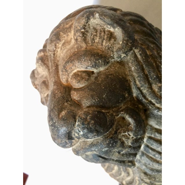 Black 12th-13th Century Stone Lion Sculpture, Spanish Romanesque Period For Sale - Image 8 of 10