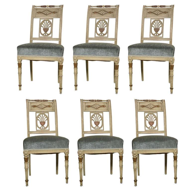 Hollywood Regency Side Chairs By Jansen   Set Of 6   Image 10 Of 10