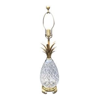 Vintage Wildwood Brass & Crystal Pineapple Lamp For Sale