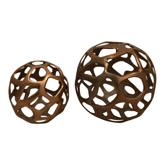 Arteriors Modern Decorative Spheres - a Pair For Sale